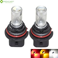 2 x 9004 HB1 P29T 30W 6xCREE White/Red/Yellow/Cold White 2100LM 6500K for Car Fog Light / daytime running lights 12-24V
