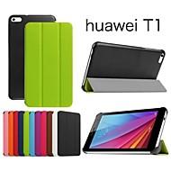 protectora casos Tablet funda de cuero casos soporte para medios huawei almohadilla t1 7.0