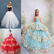 Princesse Robes Pour Poupée Barbie Violet / Marron / Blanc Robes Pour Fille de Doll Toy