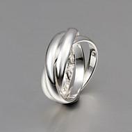 Yüzükler Düğün / Parti / Günlük Mücevher Som Gümüş Kadın / Erkek / Çift Evlilik Yüzükleri 1pc,8 Gümüş