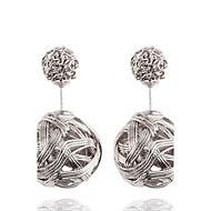 Women's Simply Fashion Round Bead Crown Stud Earrings