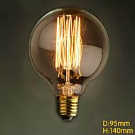 E27 60W G95 Straight Wire Table Round Creative Edison Retro Modern Bar Retro Decorative Lamp