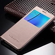 Mert Samsung Galaxy tok Betekintő ablakkal / Automatikus készenlét/ébresztés / Flip Case Teljes védelem Case Egyszínű Műbőr SamsungOn 7 /