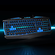 RAJFOO X-MAN Fashion Luminous Keyboard Stunning Gaming Keyboard