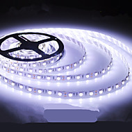 LED lys stribe lysdiode 5050smd 150led vandtæt / IP44 hvidt lys DC12V 5m / lot