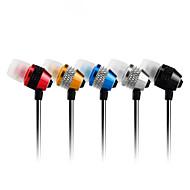 högkvalitativt stereoheadset i örat metall hörlurar handsfree hörlurar med mikrofon 3,5 mm hörlurar för spelare samsung iphone