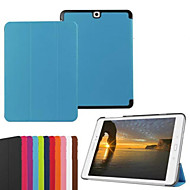 For Samsung Galaxy etui Med stativ Flip Origami Etui Heldækkende Etui Helfarve Kunstlæder for SamsungTab S2 9.7 Tab S2 8.0 Tab E 9.6 Tab