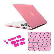 3 en 1 caso mate con cubierta del teclado y el enchufe del polvo de silicona para el MacBook Pro de 13,3 pulgadas (colores surtidos)