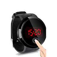 Herre Armbåndsur Digital LED / Touchscreen / Vandafvisende Silicone Band Sort Brand-