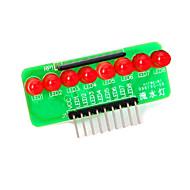 8-ledede rødt lys stripe mikrokontroller modul - grønn + rød