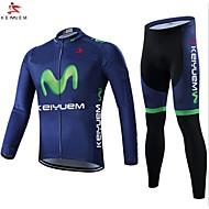 KEIYUEM Ciclismo Set di vestiti/Completi / Manicotti / Calze Per donna / Unisex BiciclettaImpermeabile / Traspirante / Isolato /