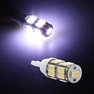 2* T10 White 17 LED 5630 SMD Side Marker Dashboard Light Bulb Lamp