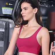 Laufen BH Damen Ärmellos Atmungsaktiv / Videokompression Elastan / Tactel Yoga Königin Yoga Sportbekleidung Dehnbar RotFrühling / Sommer