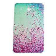 Voor Samsung Galaxy hoesje Patroon hoesje Achterkantje hoesje Bloem TPU Samsung Tab 4 10.1 / Tab E 9.6 / Tab A 9.7