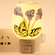 geblümten Keramik-Lampe Nachtlicht Nachttischlampe Duftfestivalgeschenk
