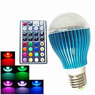 1 pcs SchöneColors GU10/ E26/E27 /B22 9W 450LM RGB A60  Dimmable /32Keys Remote-Controlled /Decorative LED Globe Bulb