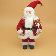 Babbo Natale bambola con gli stivali tintinnio campana e presente sacco.