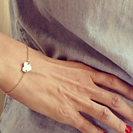 Women's Charm Bracelet Heart Simple Style Fashion Alloy Love Silver Golden Jewelry For Party Daily Casual Christmas Gifts 1pc