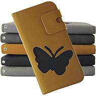 Para Samsung Galaxy Note Porta-Cartão / Carteira / Com Suporte / Flip Capinha Corpo Inteiro Capinha Borboleta Couro PU Samsung Note 2