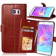 ל Samsung Galaxy Note ארנק / מחזיק כרטיסים / עם מעמד / נפתח-נסגר מגן גוף מלא מגן צבע אחיד דמוי עור Samsung Note 5 / Note 4 / Note 3