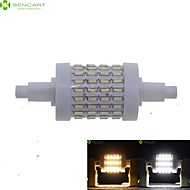 R7S 78mm 72 x 4014SMD 8W Warm White / Cool White 800LM 360°Beam Horizontal Plug Lights Dimmable Flood Light AC85-265V