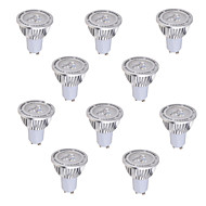 10 pcs GU10 5 W 3*COB 450 LM Warm White / Cool White MR16 Decorative Spot Lights AC 85-265 V