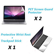 """Metal Rest Protective Film and Touch Panel Membrane + Protective Clear Screen Guard for 12"""" MacBook"""