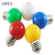 10PCS MORSEN® LED Light Bulb Color E27  1W Small Light Bulb Outdoor Decorative Colorful Lighting Christmas Lights