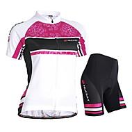 NUCKILY® Cykeltrøje og shorts Dame Kort Ærme CykelVandtæt / Åndbart / Ultraviolet Resistent / Fugtpermeabilitet / Vandtæt Lynlås /