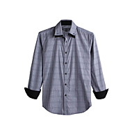 JamesEarl Férfi Állógallér Hosszú ujjú Shirt és blúz Fekete Elhalványulnak - DA112046126