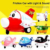 il diario aeroporto giocattolo cartoon car attrito con il suono e la luce per giocattoli per bambini inc. batteria (occhi si accende su e