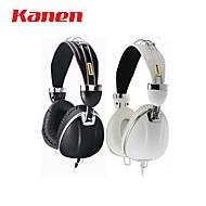 kanen ip-900 fones de ouvido com microfone de design de moda para computador, celular, ipad, ipod