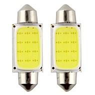 2pcs festone 39 millimetri 3w 240lm 6000k pannocchia ha condotto la luce bianca per lampadina dell'automobile sterzo / lampada di lettura