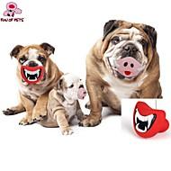 犬用おもちゃ ペット用おもちゃ 噛む用おもちゃ リップ型 ラバー レッド ピンク