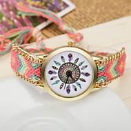 2015 mulheres relógios de ouro de quartzo relógios de pulso Ladies genebra artesanal tecer pulseira trançada xr1235