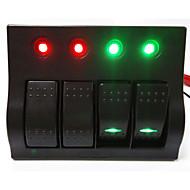 lossmann Hot! 4 Way Rocker switch panel  Car / Boat Switch Panel High Quality