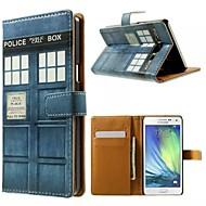 hyvä laatu PU nahka läppä tapauksessa matkapuhelin kotelo Samsung Galaxy A3 / A5 / A7