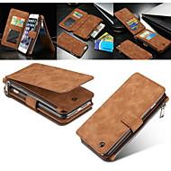 バックcaseme 2in1は本革のファスナー財布カードスロットシェルケースiphone 6S 6プラス