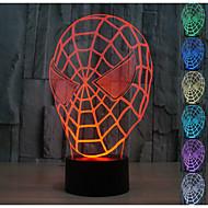 visuelle 3d spider man atmosphère de l'humeur de modèle conduit décoration usb lampe de table cadeau coloré lumière de nuit