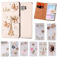 Para Samsung Galaxy Capinhas Porta-Cartão / Com Strass / Flip Capinha Corpo Inteiro Capinha Desenho Couro PU SamsungS6 edge plus / S6