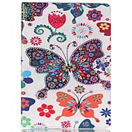 butterfly farget tegning eller mønster og tpu tekstil klut kortspor stenter kledningen for apple ipad 4/3/2