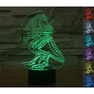 visuelle 3d variation homme atmosphère de l'humeur de modèle conduit décoration usb lampe de table cadeau coloré lumière de nuit