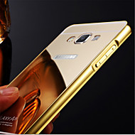Mirror Plated Metal Frame Transparent Acrylic Cover Phone Case for Samsung Galaxy A3 A5 A7 A8 (2016)