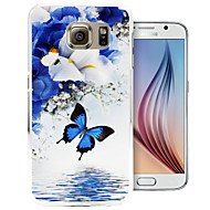 Butterfly Mirror Lake Pattern PC Back Cover Case for Samsung Galaxy S6/S6 Edge