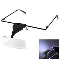 Volk stile occhiali occhiali 1.5 / 2.5 / 3.5 lente con led