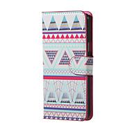 Käyttötarkoitus Samsung Galaxy kotelo kotelot kuoret Tuella Flip Kokonaan peittävä Etui Geometrinen printti PU-nahka varten SamsungJ5
