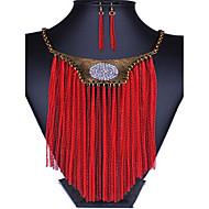 Vintage / Party / Büro - Damen - Halskette / Ohrring (Vergoldet / Legierung / Zirkonia)