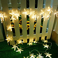 King Ro 40LED Starfish Holiday Light Battery Outdoor Waterproof String Light(KL0023-RGB,White,Warm White)