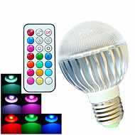 1 pcs SchöneColors E26/E27 8W High Power LED Dimmable / Remote-Controlled / Decorative RGB LED Globe Bulbs AC 100-240 V