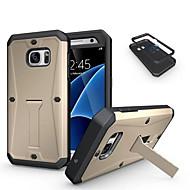 Mert Samsung Galaxy tok Ütésálló / Állvánnyal Case Hátlap Case Páncél PC Samsung S7 / S6